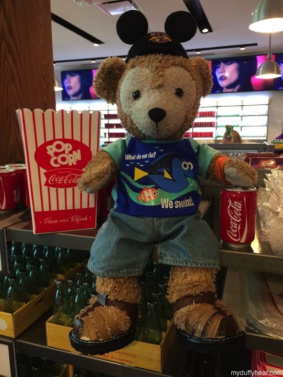 Duffy the Disney Bear finds a popcorn bucket 4 times the size of the one he has at home now.