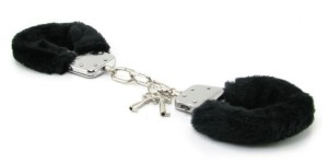 MyEquip-Black Furry Hand Cuffs