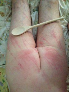 Wooden Spoon Spanking