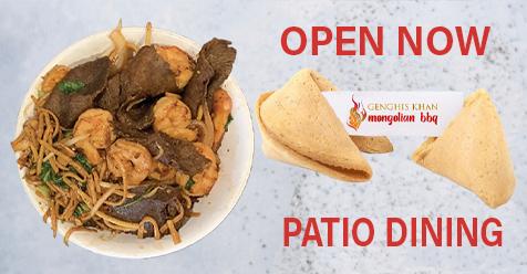 Genghis KhanMongolianBBQ – Patio Dining