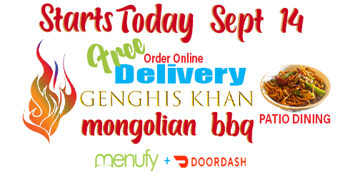 Patio Dining or Order Online for Home – Free Delivery Starts Today