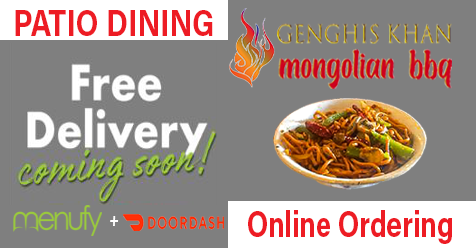 Enjoy Patio Dining or Order Online for Home – Free Delivery Coming Soon