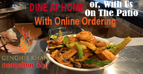 Genghis Khan Mongolian Restaurant   Click to See Our Online Ordering Menu