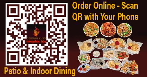 SCV Restaurant Dine In & Online Ordering   Genghis Khan Mongolian BBQ