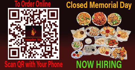 We're Hiring | Genghis Khan Mongolian BBQ