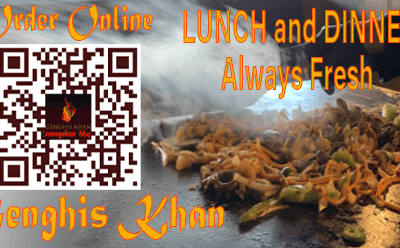 Dine In – Patio – Take Out – Delivery   Genghis Khan Mongolian Restaurant