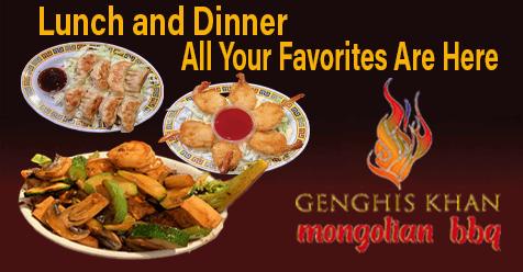 All Your Favorites | Genghis Khan Mongolian Restaurant