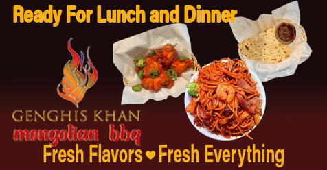 Feast on Lunch & Dinner | Genghis Khan Mongolian Restaurant