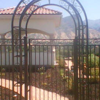 arched metal fencing