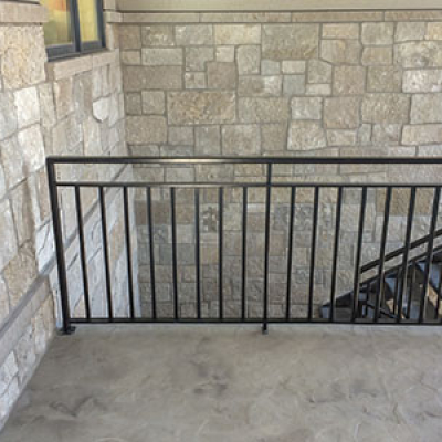 black metal railing