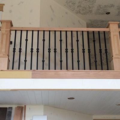 indoor metal railing fabrication