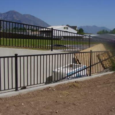 outdoor metal fence