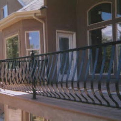 exterior custom railing