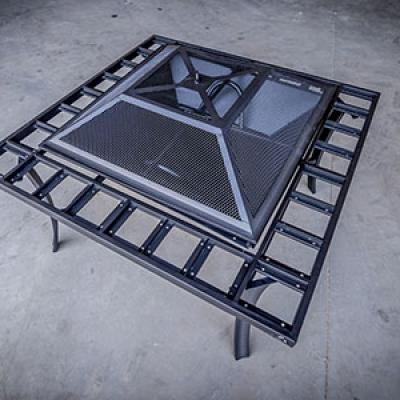 custom metal project fabrication fireplace