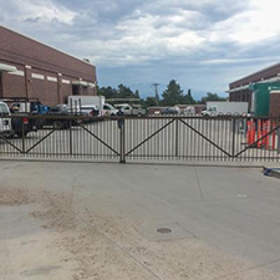 rolling metal gate