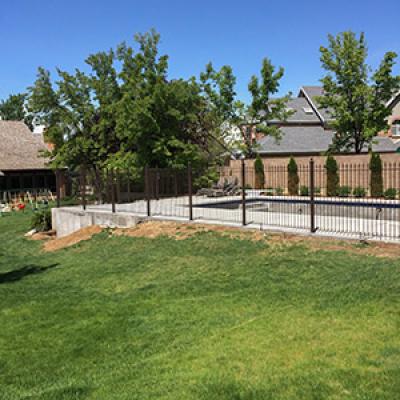 iron pool fence