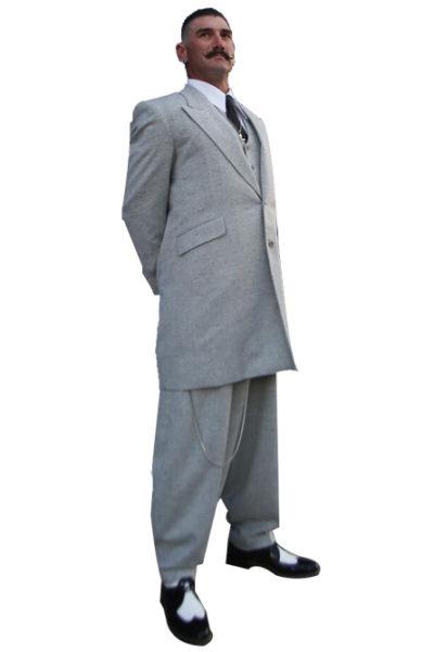 Light Gray Tweed Zoot Suit