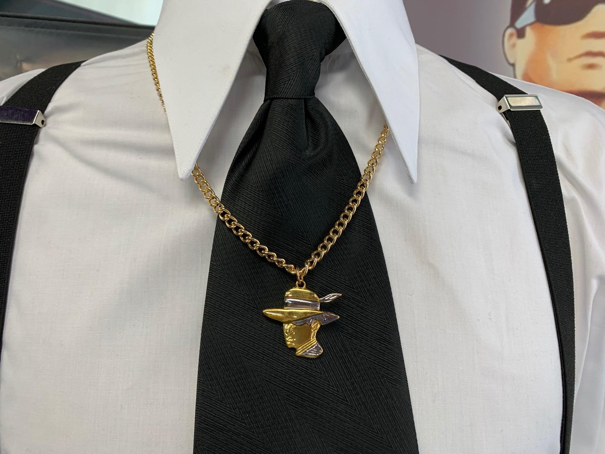 Pachuco Head Logo Necklace