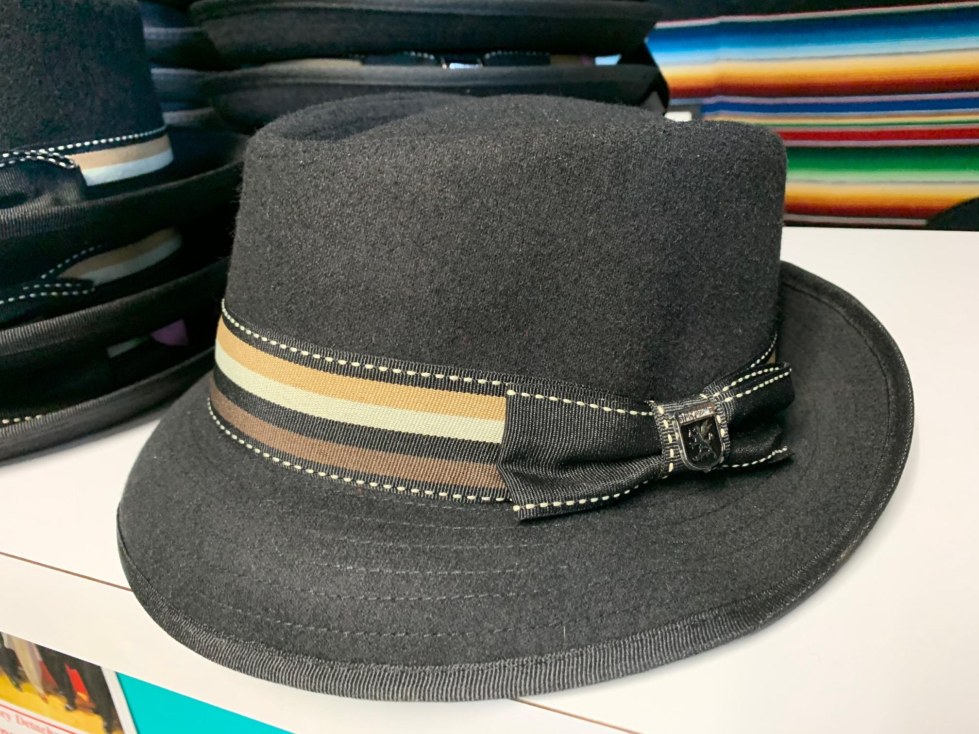 Black w/Tan Stripes Hat