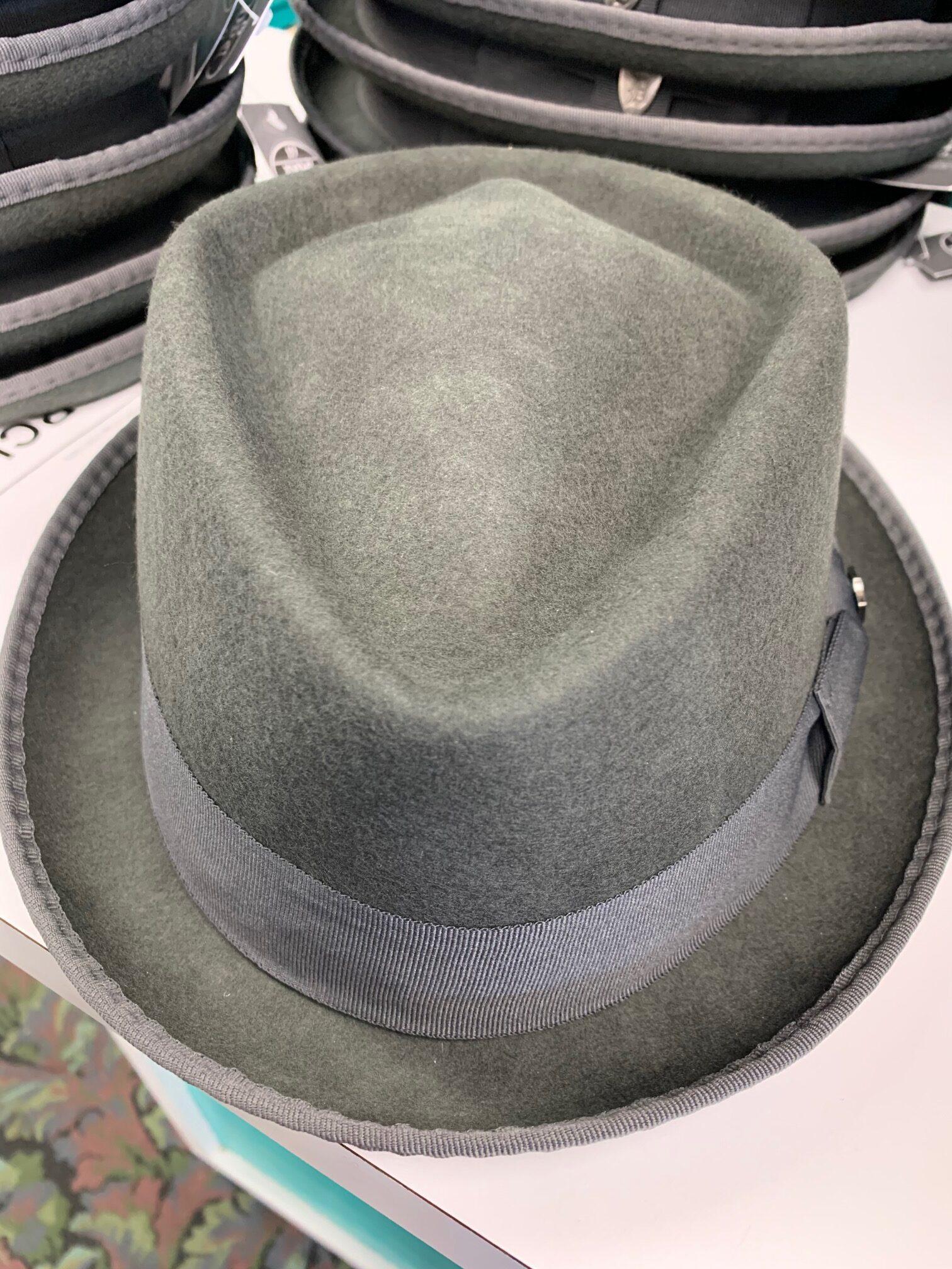 Charcoal Gray Stingy Brim Hat