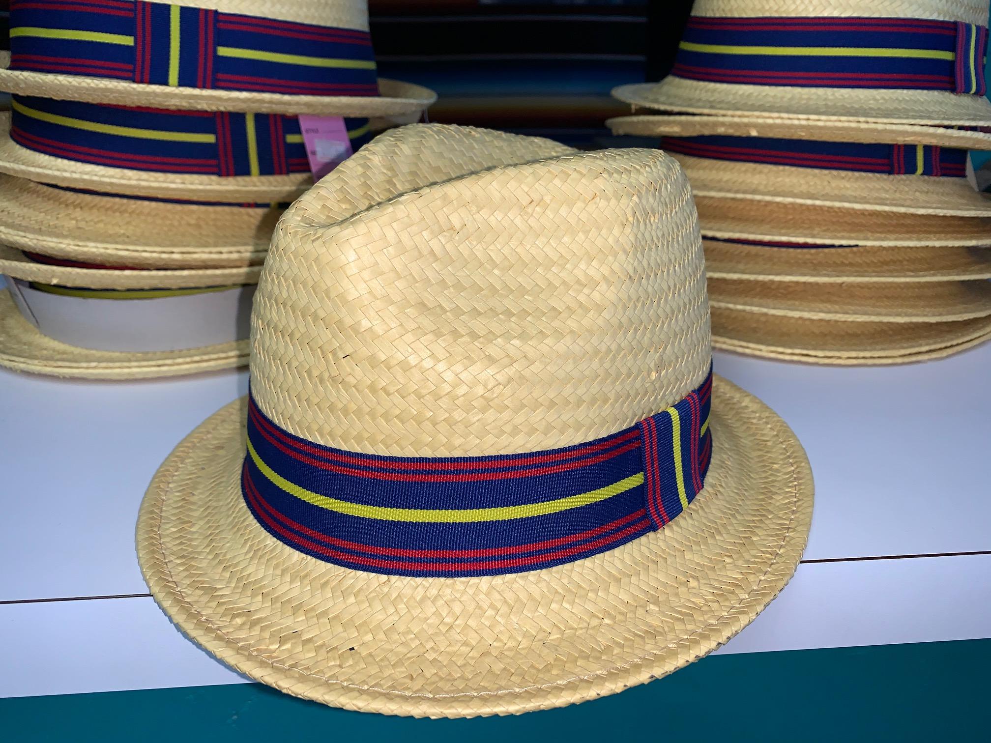 Gold STRAW Gangster Hat