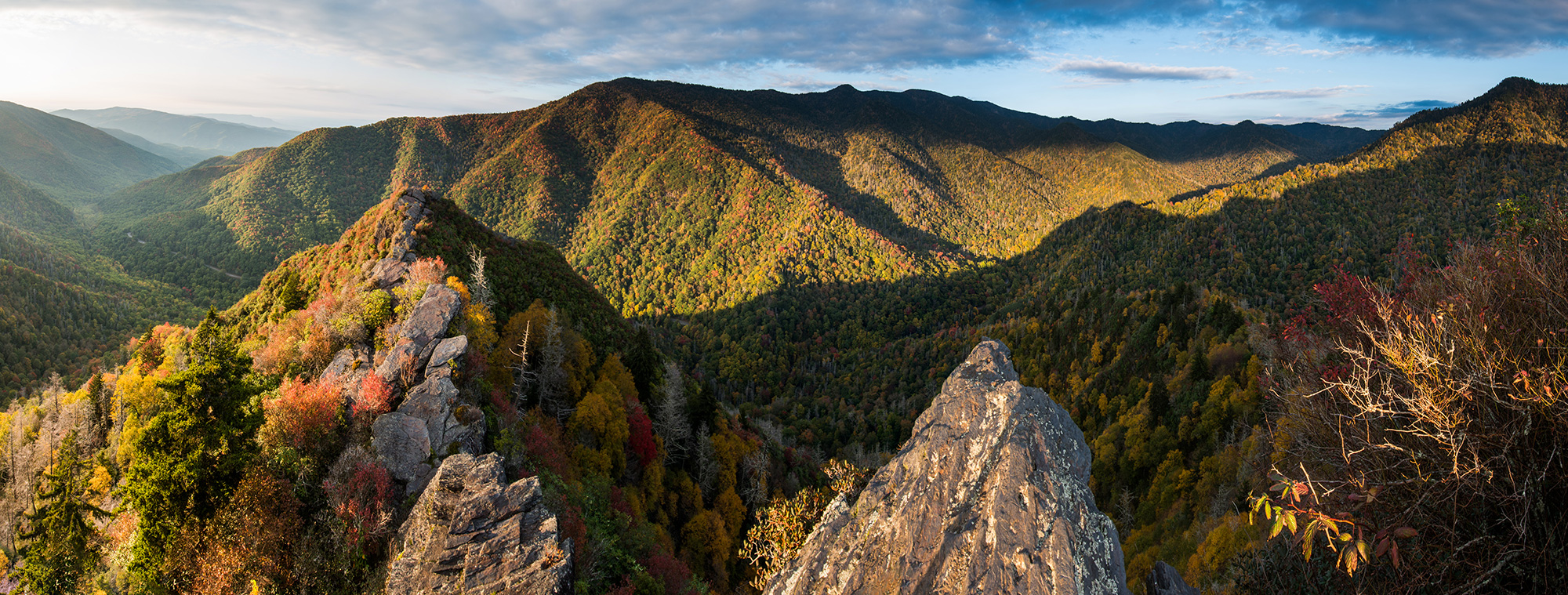 Chimney Tops Panorama – Great Smoky Mountains National Park, Tennessee