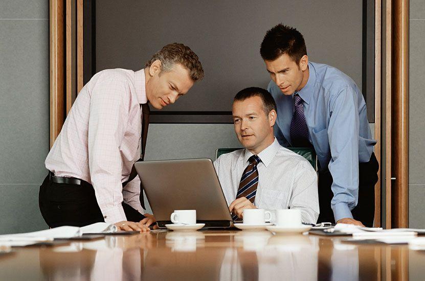 Men On Computer Online Form Builder