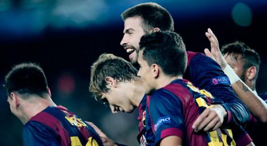 Piqué salvó al Barcelona ante el Apoel