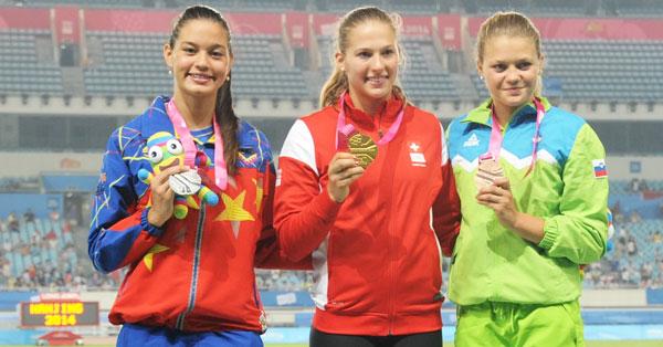 """Rosbeilys Peinado: """"la Medalla del coraje en Nanjing"""""""