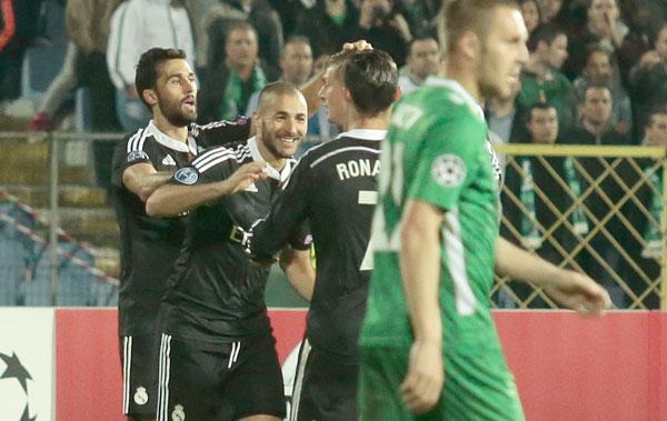 Real Madrid sufrió para vencer al Ludogorets