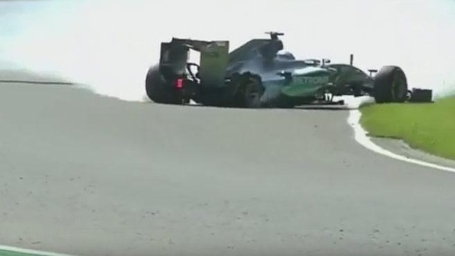 Rosberg pasó un susto en los entrenamientos