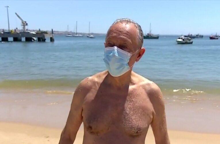 Presidente de Portugal sorprendió a todos al aparecer en una playa sin asistentes ni personal de seguridad