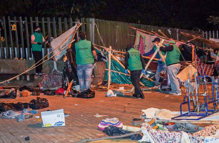 Venezolanos que dormían en un parque de Bucaramanga fueron trasladados a Cúcuta