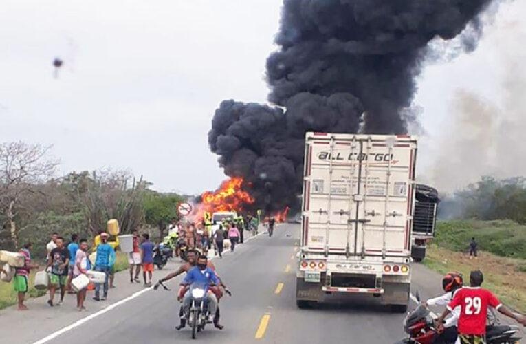 7 muertos y 45 heridos  tras explosión de cisterna  en Barranquilla