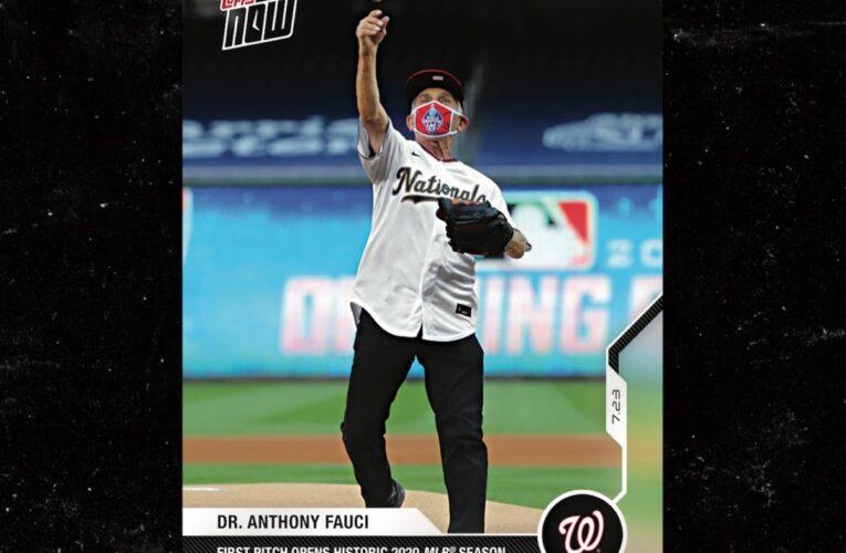 Anthony Fauci obtiene su propia tarjeta de beisbol