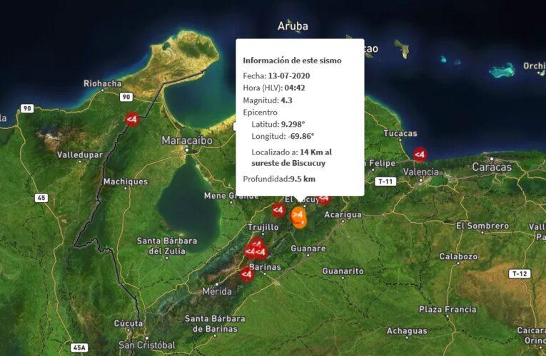 Nuevo temblor se sintió en Portuguesa, Mérida y Trujillo
