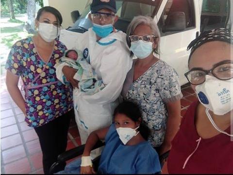 Paciente aislada en Los Caracas dio a luz en la Maternidad