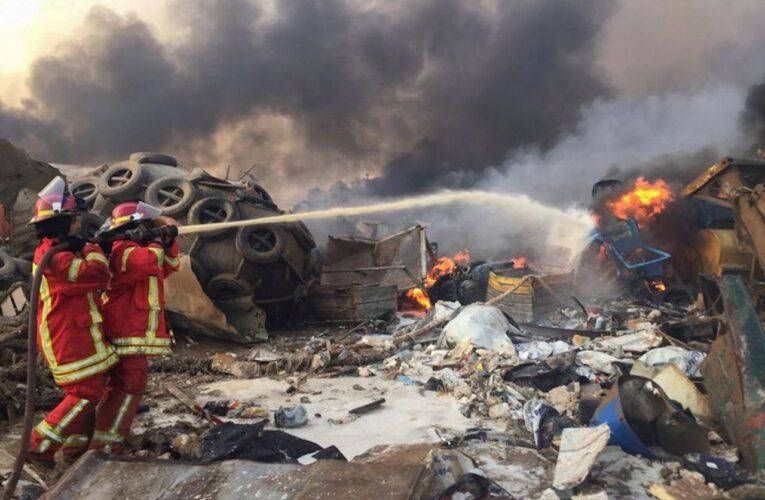 Estalla almacén de explosivos en Beirut