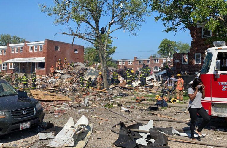 Un muerto y tres casas destruidas tras explosión en Baltimore