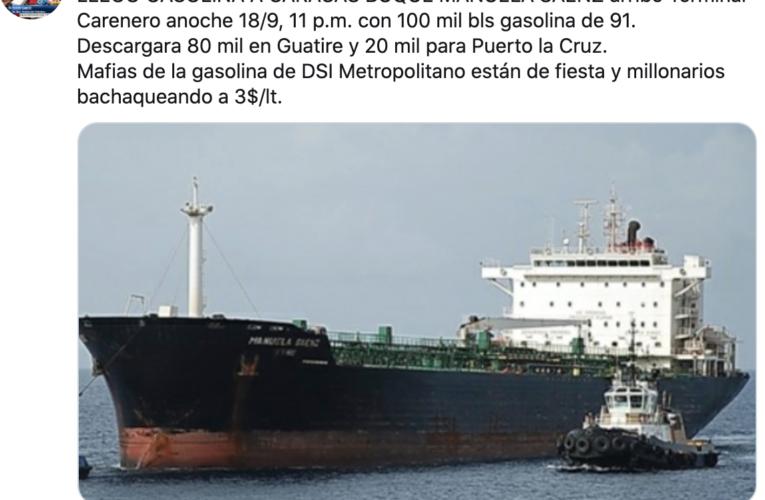 Llegó buque con gasolina para Caracas
