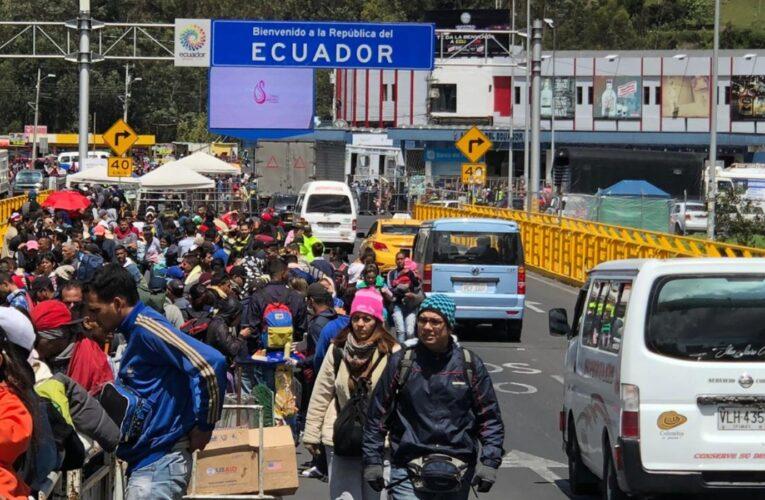 Casi 1,9 millones de venezolanos pasaron por Ecuador desde 2016