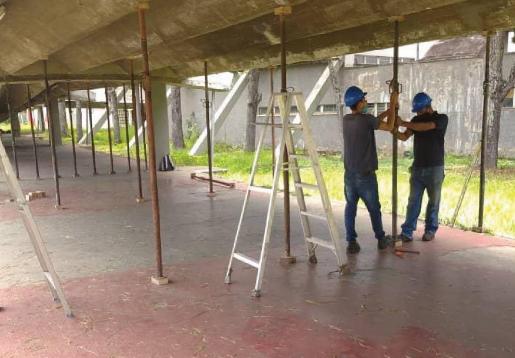 Reparan pasillo cubierto de la UCV
