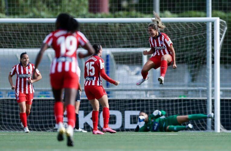 Deyna anota su primer gol con el Atlético