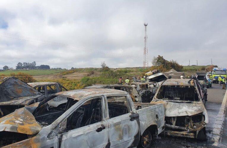 Dos muertos en choque de 18 autos en Chile