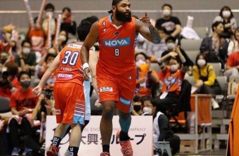 Echenique rendidor en el baloncesto japonés