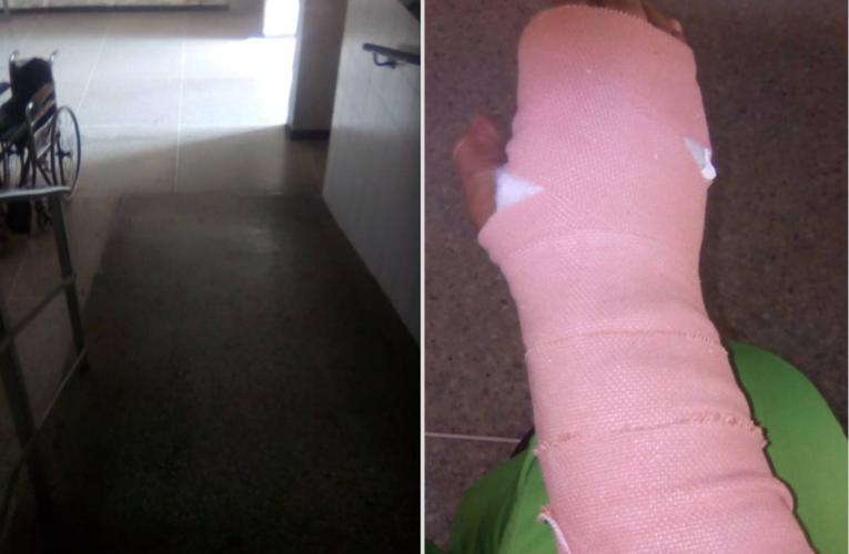 Enfermera se fracturó en la rampa del Hospitalito