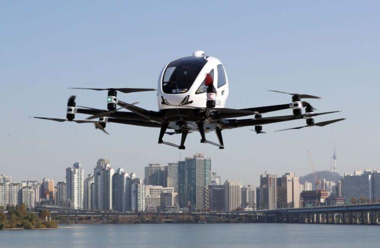 Seúl: Primera exhibición de taxis voladores