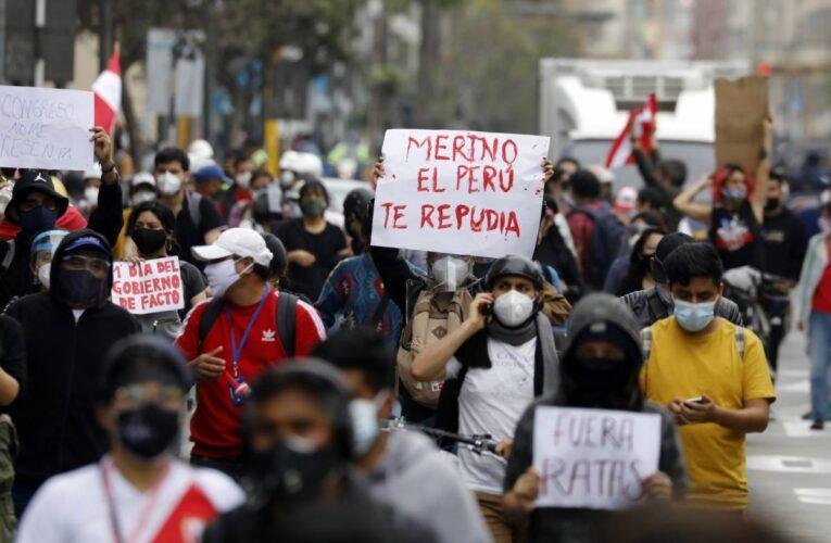 Lima: 27 detenidos en protestas contra investidura de Merino