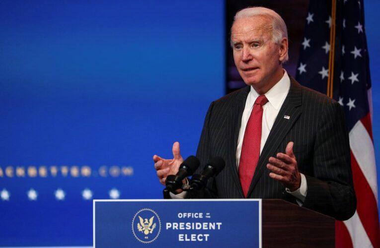 "Biden tildó de ""irresponsable"" al equipo de Trump por denuncias de fraude"