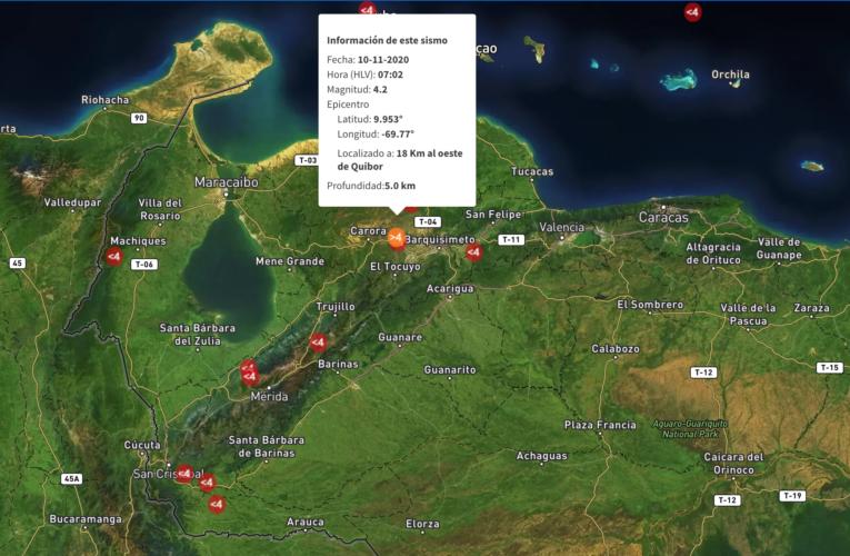 Registran dos sismos en Lara